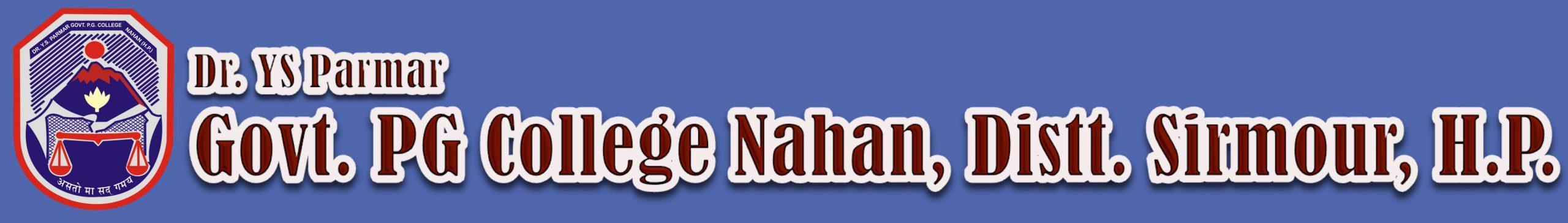 Dr.Y.S. Parmar Govt. PG College Nahan